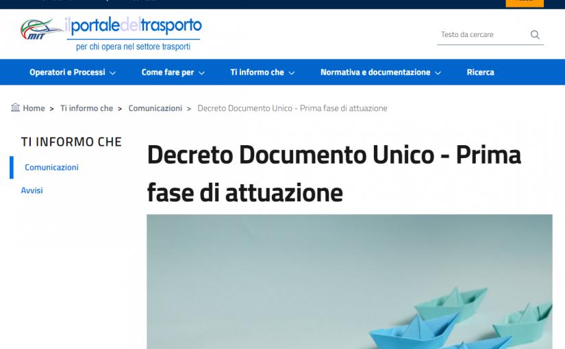 Documento Unico: Il trapasso Legge Dini è la prima pratica obbligatoria